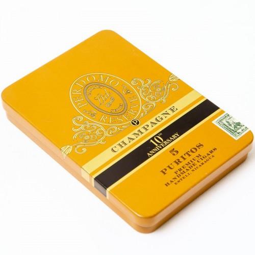 Набор сигар Perdomo Reserve 10 Years Anniversary Puritos Champagne в подарочной упаковке
