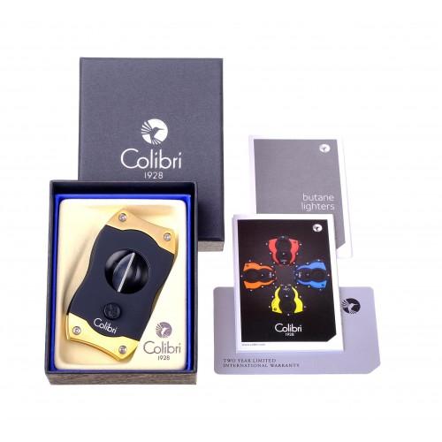 Гильотина Colibri V-cut, черная-золото