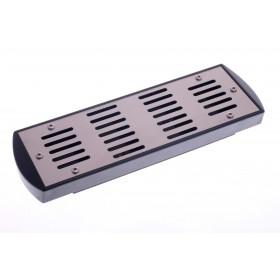 Увлажнитель акриловый Passatore на 50 сигар, серебристый