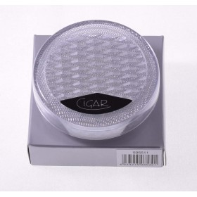 Увлажнитель прозрачный акриловый пенал на 25 сигар, круглый