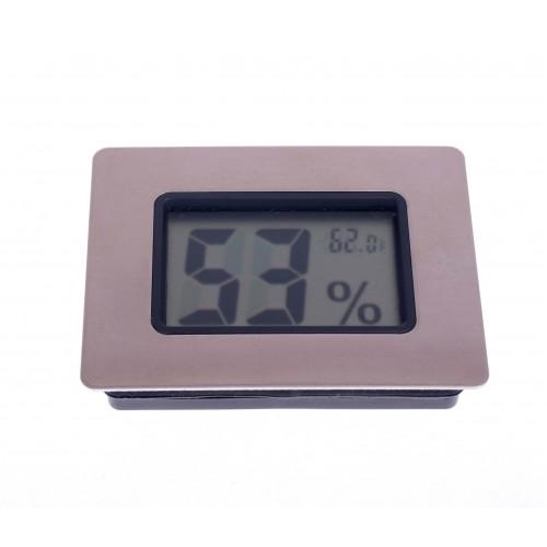 Термо-Гигрометр цифровой, серебро