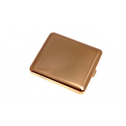 Портсигар Stoll на 18 сигарет, латунь + покрытие из натурального золота