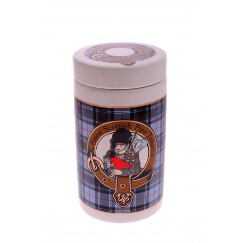 """Банка для табака Lubinski """"Шотландия"""", серая"""