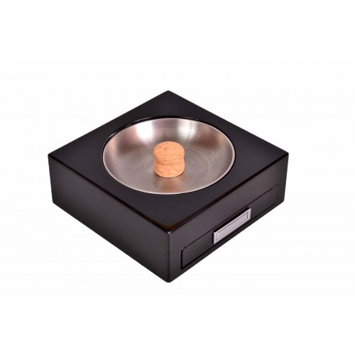 Пепельница Lubinski трубочная с ящичком, черная