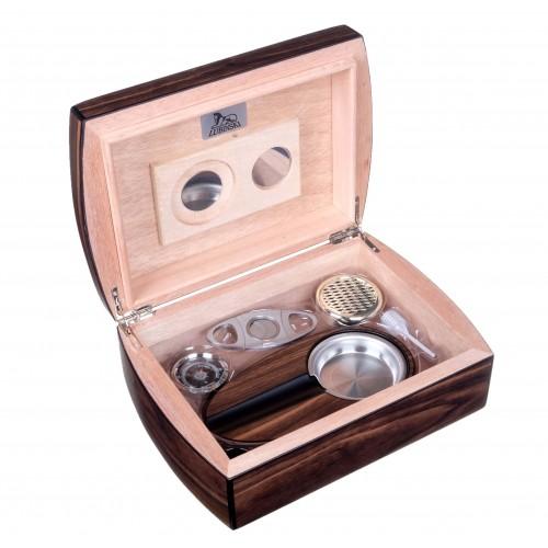 Хьюмидор Lubinski с подарочным набором на 30 сигар, Орех матовый