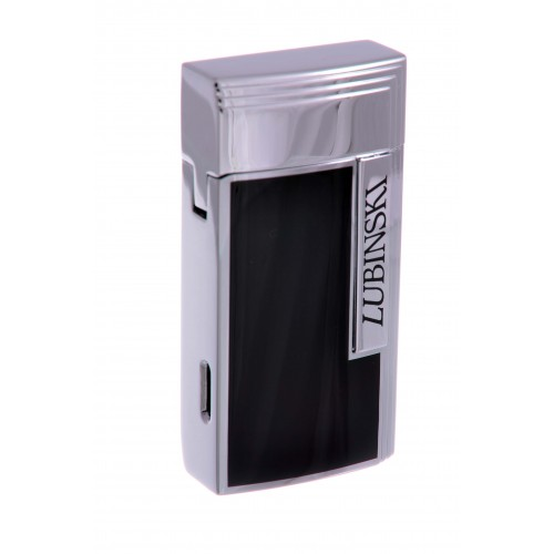 Зажигалка сигарная Lubinski «Тиволи» турбо с гильотиной, черный металлик