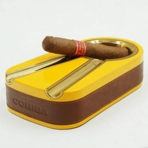 Металлическая пепельница Cohiba на две сигары