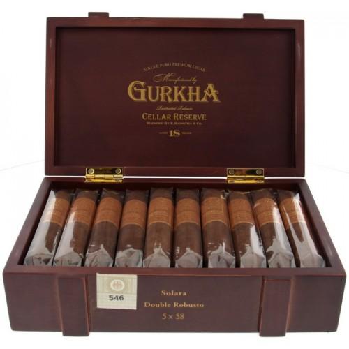 Сигары Gurkha Cellar Reserve Aged 18 Years Solara Double Robusto