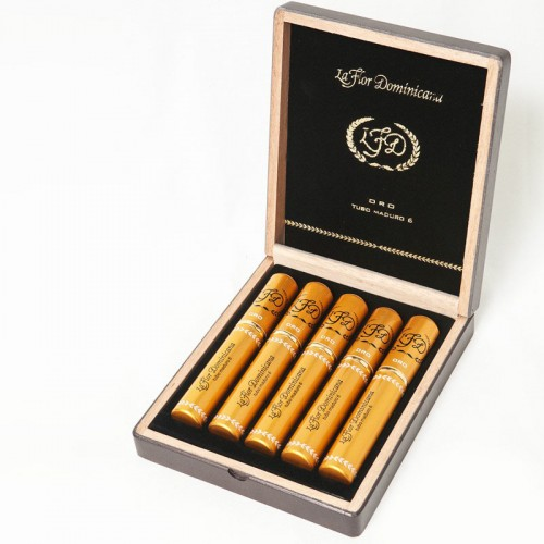Сигары La Flor Dominicana Oro Maduro №6 Tubos в подарочной упаковке